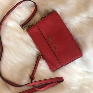 Authentic Coral Michael Kors Crossbody